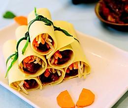 北京菜-京酱肉丝卷-二个步骤让肉丝更嫩的做法