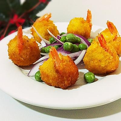 【黄金虾球】~节日里的宴客菜