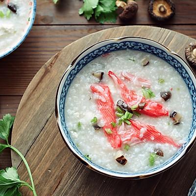 开胃补钙的蟹柳豆腐粥