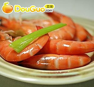 微波葱姜盐水虾的做法