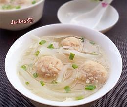 萝卜丝丸子汤的做法