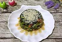 菠菜陈醋花生米的做法