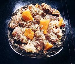 荷叶糯米蒸排骨的做法