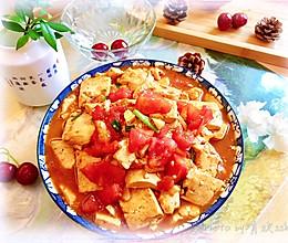 简单营养,比肉还香,吃了会上瘾的-番茄炒豆腐的做法