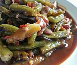 乐乐自家菜--豆瓣烧豆角茄子土豆的做法