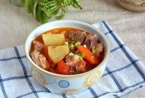 #少盐饮食 轻松生活#强身健体的番茄牛腩炖土豆的做法
