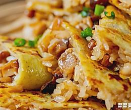 #换着花样吃早餐#三鲜豆皮|焦脆软糯的做法