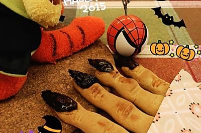 万圣节恐怖手指饼干