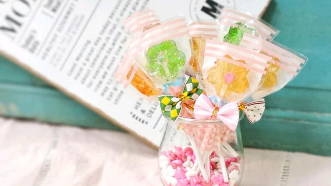 甜蜜蜜——花朵棒棒糖的做法