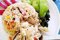碎肉土豆彩椒香菇饭的做法