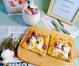 #餐桌上的春日限定#春日早餐•下午茶酸奶麦片手抓饼的做法