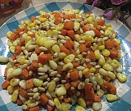 松仁玉米胡萝卜丁的做法