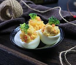 鱼糕鸡蛋沙拉杯的做法