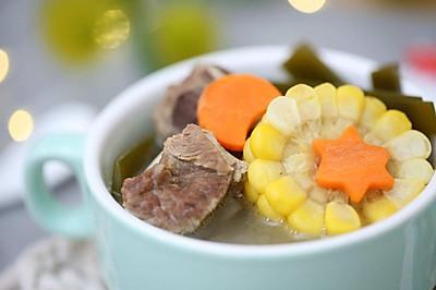 宝宝辅食食谱  玉米海带排骨汤