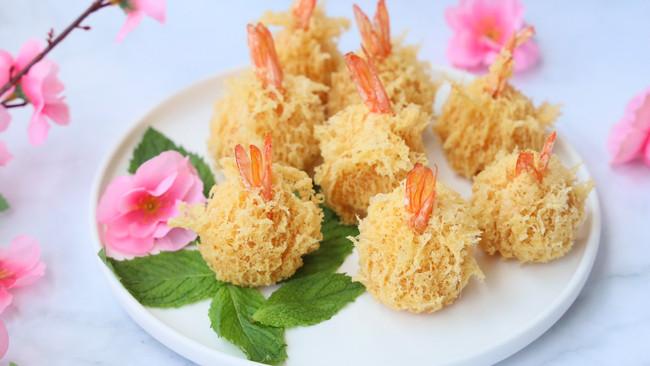 网红菜——珊瑚凤尾虾的做法