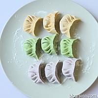 彩色饺子的做法图解7