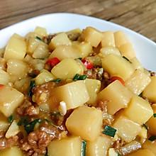 下饭菜-肉末红烧米豆腐
