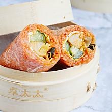 韩式泡菜鸡肉肠粢饭团   元气早餐