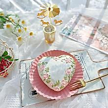 """#美食说出""""新年好""""#爱心彩绘酸奶蛋糕"""