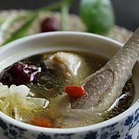 银耳红枣鸡汤#美的微波炉菜谱#的做法图解8