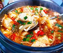 韩式辣白菜嫩豆腐汤的做法