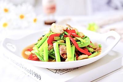 菜心红椒肉片小炒