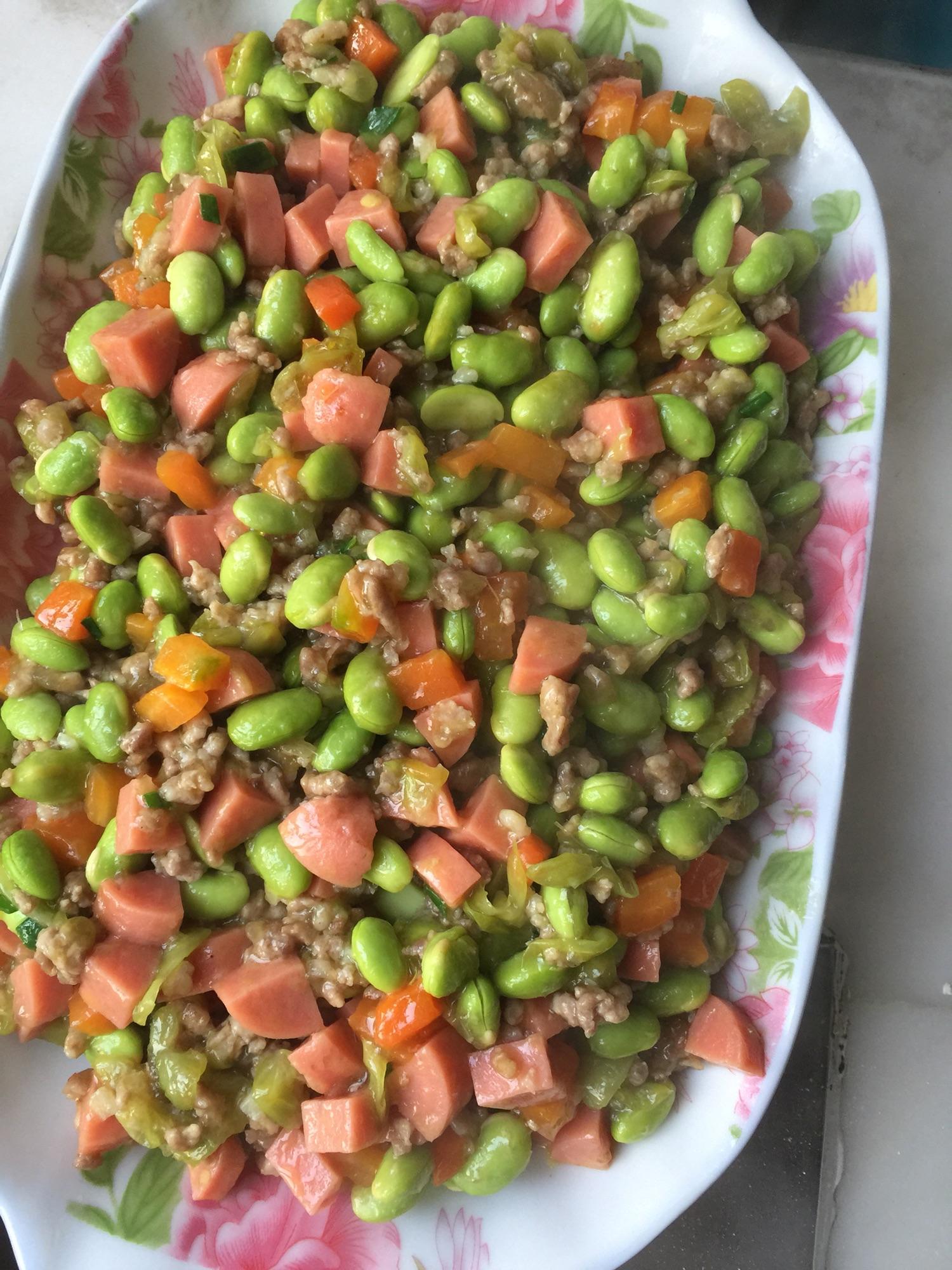 炒干豇豆的做法_三色毛豆怎么做_三色毛豆的做法_豆果美食