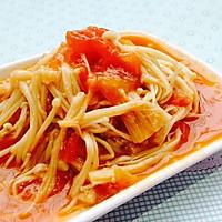 吃过就会爱上--番茄烩金针菇的做法图解11