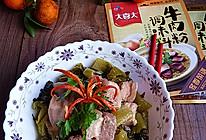 大喜大牛肉粉试用之:酸菜炖五花肉的做法
