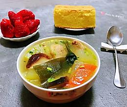 #人人能开小吃店#海带冬瓜香菇鲜肉汤的做法