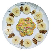 彩色面条虾饼