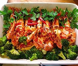 香焗摩洛哥虎纹虾//厨房小白也️的做法