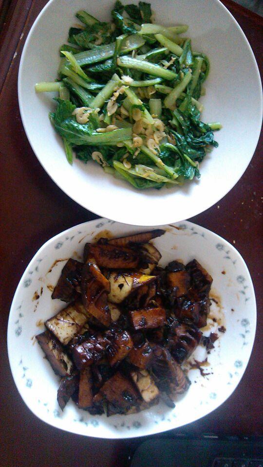 虾皮小白菜,油焖春笋