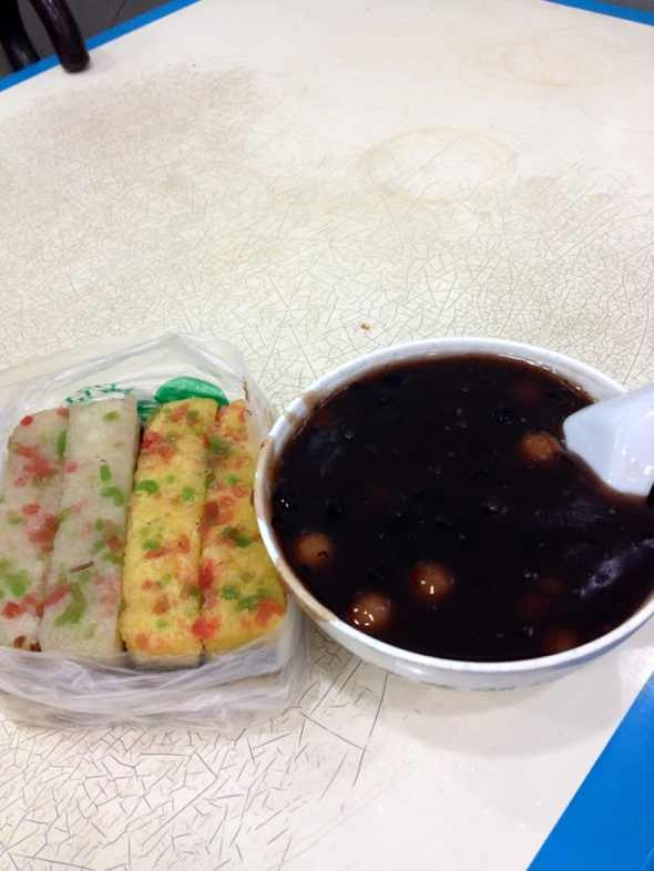 重阳糕和莲子赤豆小元宵
