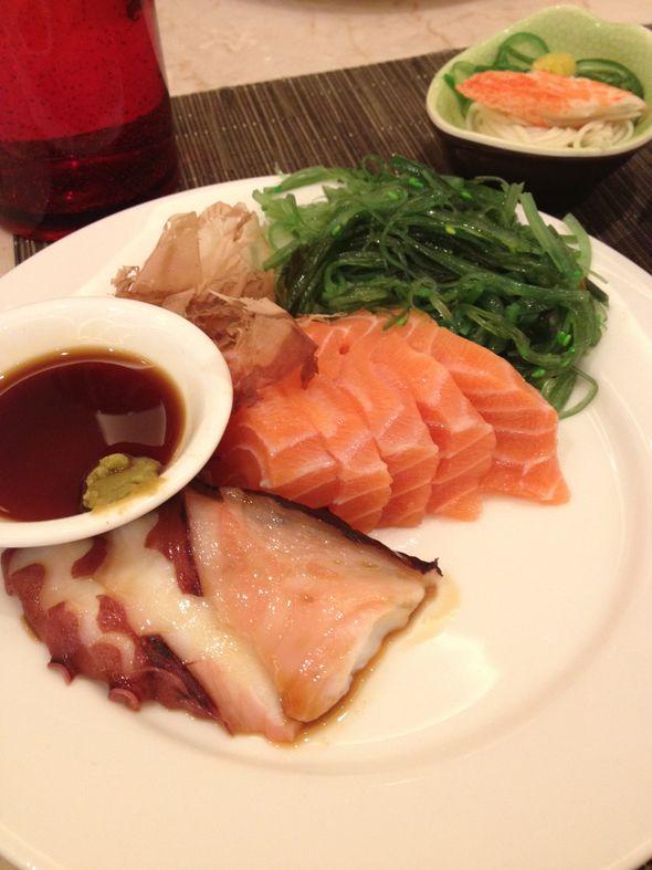 三文鱼、中华海草