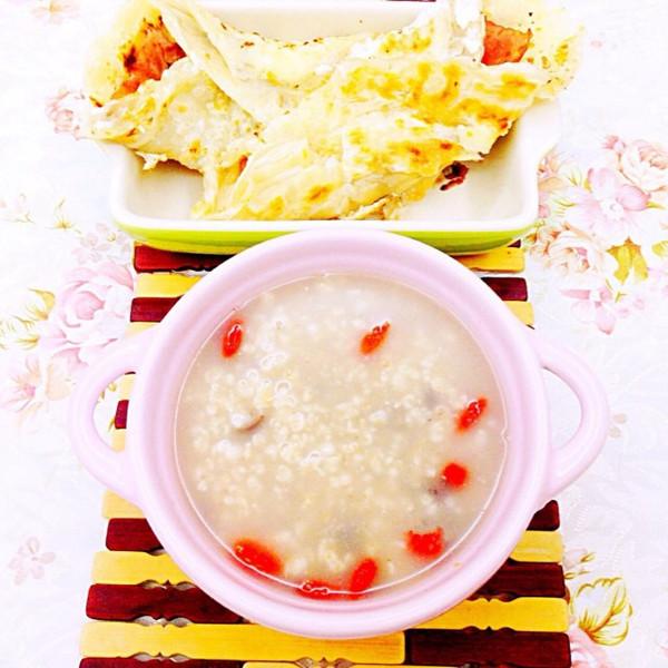 营养健康排毒蜜豆枸杞燕麦粥的做法