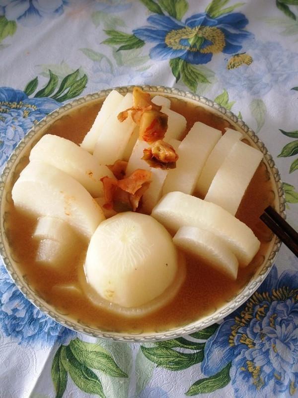 高汤蒸萝卜的做法