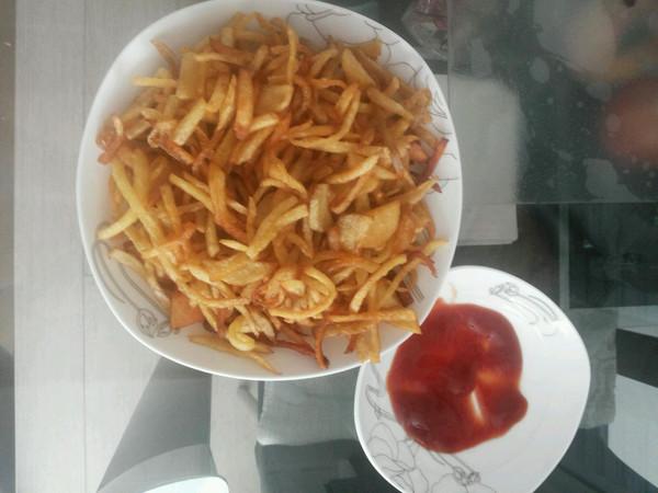 炸薯条的做法