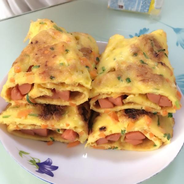 早餐营养鸡蛋饼的做法