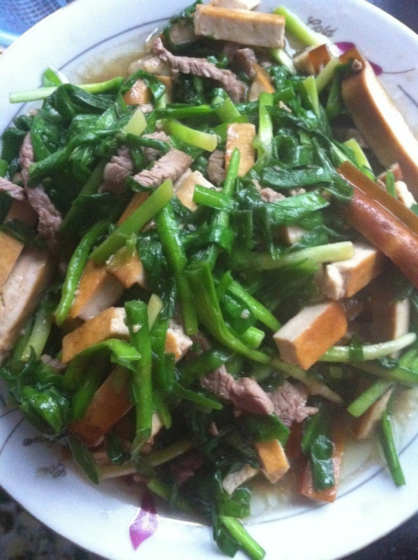 韭菜豆干炒湖南腊肉的做法
