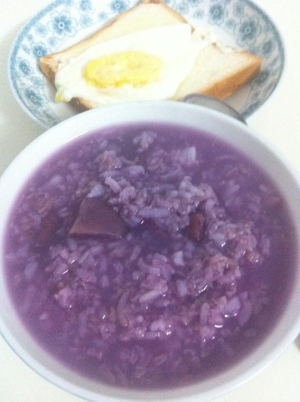 银耳紫薯粥的做法