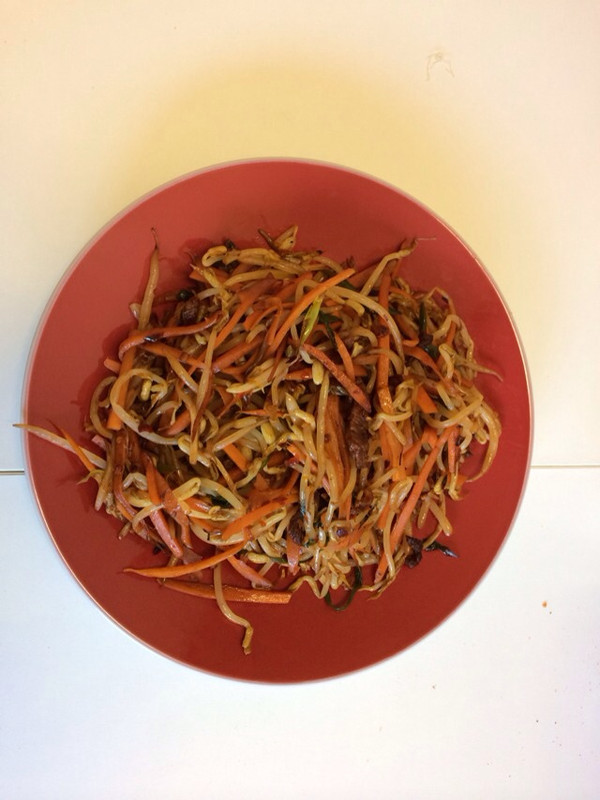减肥菜也可以好吃——【干煸黄豆芽】的做法