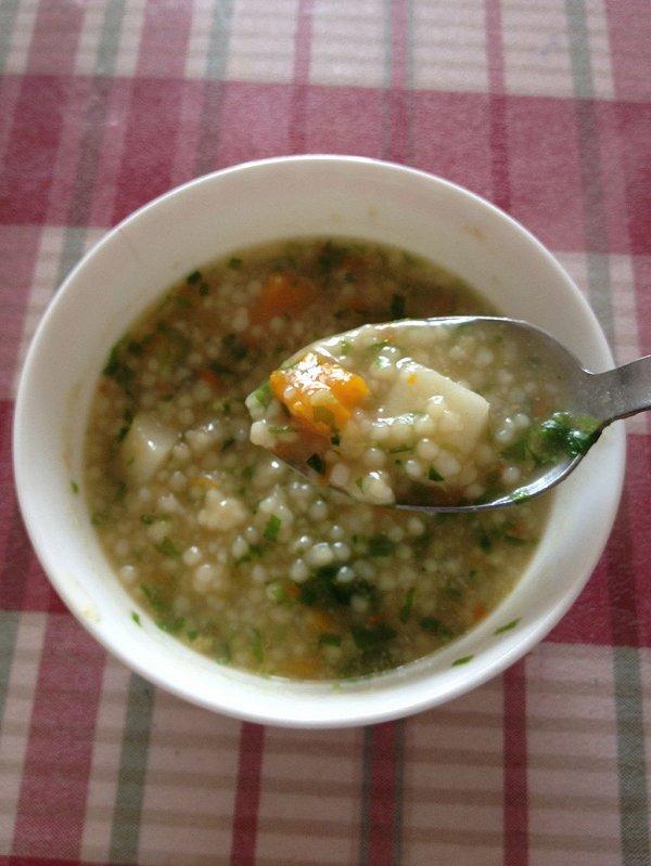 素什锦白玉珍珠汤的做法
