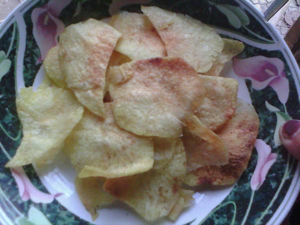 非油炸薯片的做法