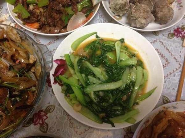 油菜虾仁的做法