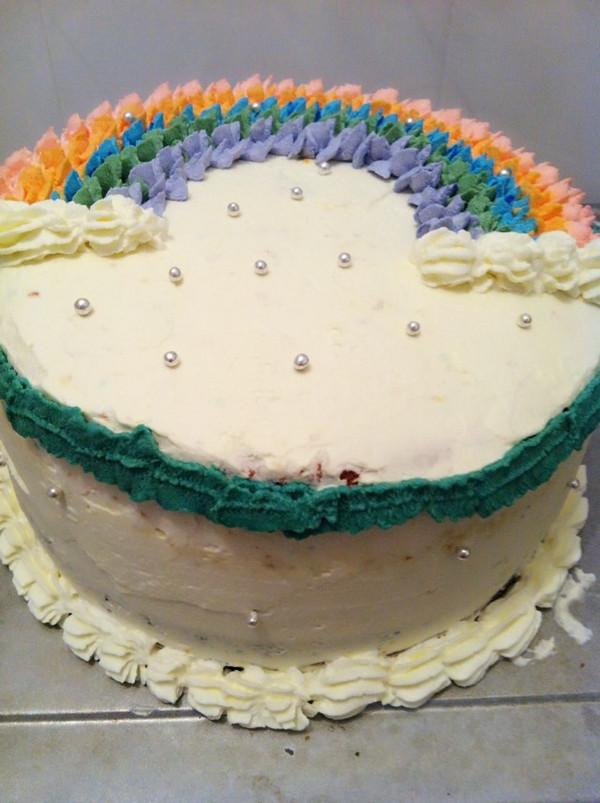 彩虹蛋糕,给孩子一个甜蜜的彩虹糖的梦的做法