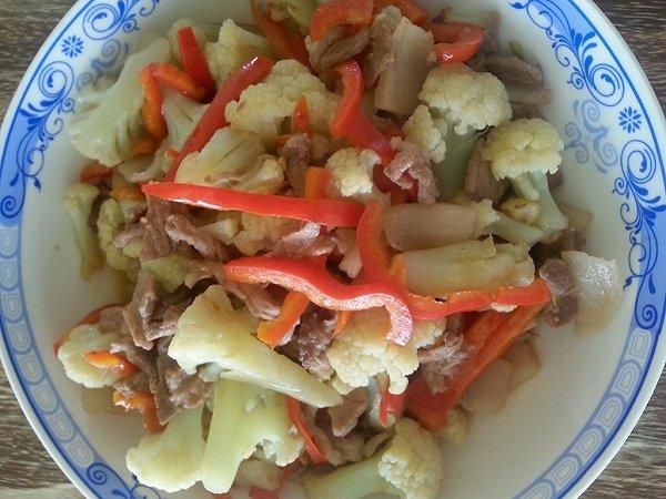花菜炒肉丝的做法