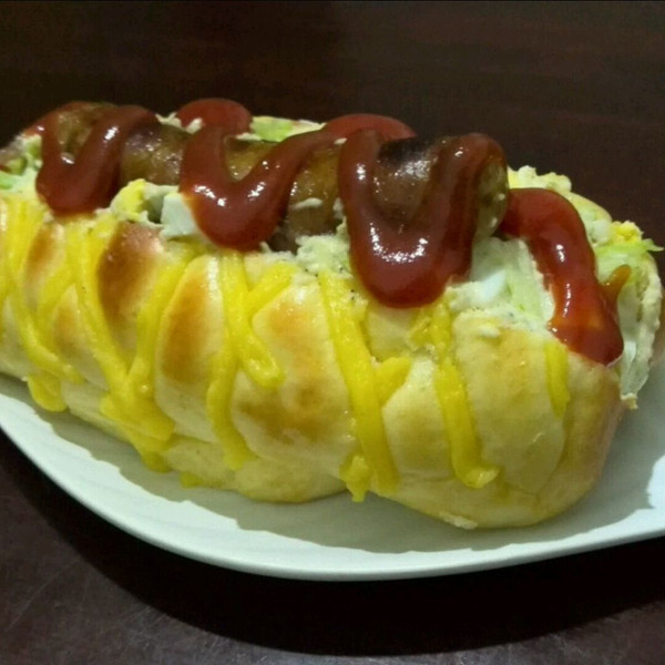 网纹热狗沙拉包的做法