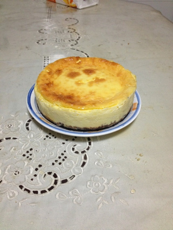 8寸原味芝士蛋糕的做法
