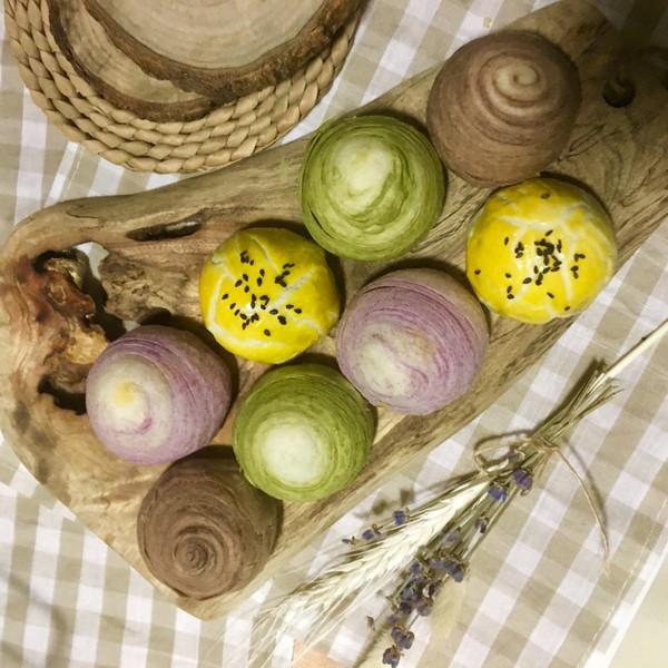 可以开个稻香村了——蛋黄酥&香芋酥&抹茶酥&巧克力酥的做法
